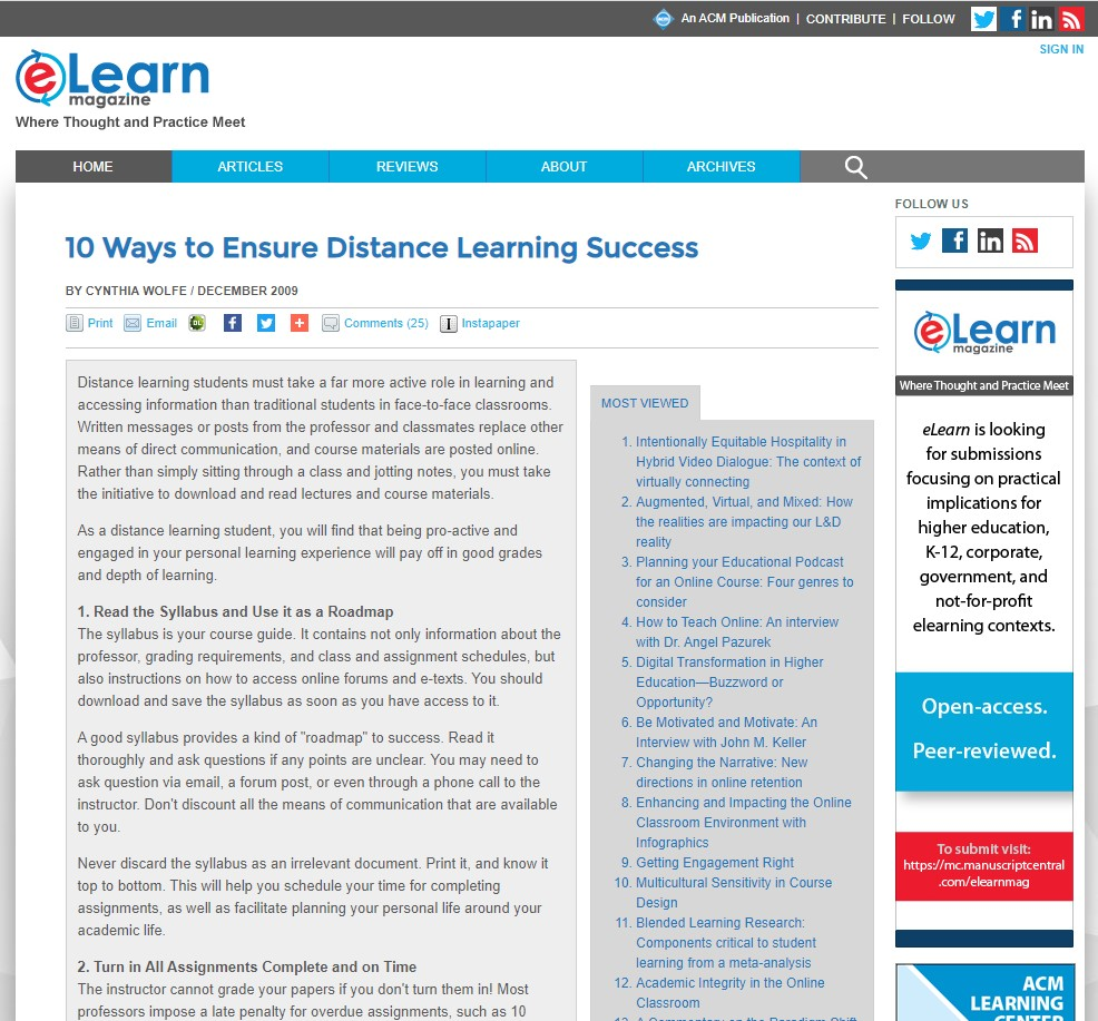 10 Ways to Ensure Distance Learning Success